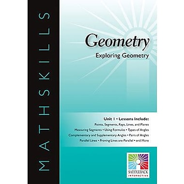 Saddleback Educational Publishing® Math Skills; Exploring Geometry, IWB, Grades 6-12