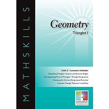 Saddleback Educational Publishing® Math Skills; Geometry, Triangles I, IWB, Grades 6-12