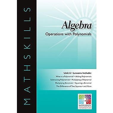 Saddleback Educational Publishing® Operations with Polynomials; IWB, Algebra, Grades 6-12