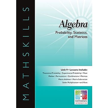 Saddleback Educational Publishing® Probability, Statistics, & Matrices; IWB, Algebra, Grades 6-12
