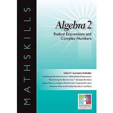 Saddleback Educational Publishing® Radical Expressions & Complex Numbers; IWB, Algebra 2