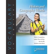 Saddleback Educational Publishing® History and Geography Words; Grades 6-12