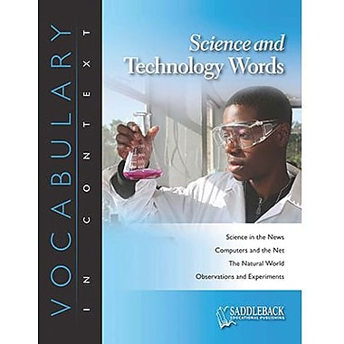 Saddleback Educational Publishing® Science and Technology Words; Grades 6-12