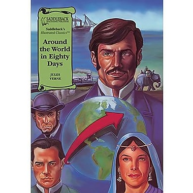 Saddleback Educational Publishing® Around the World in Eighty Days Read-Along; Grades 9-12