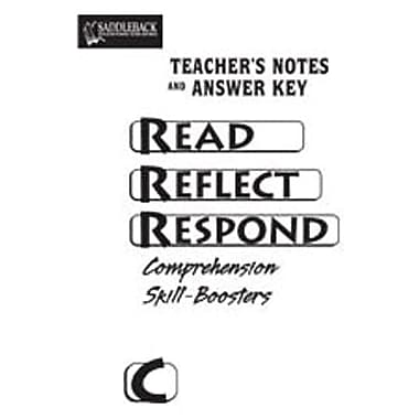 Saddleback Educational Publishing® Read Reflect Respond Book C; Answer Key, CD, Grades 5-12