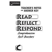 Saddleback Educational Publishing® Read Reflect Respond Book C; Answer Key, CD, Grades 5-12