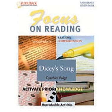 Saddleback Educational Publishing® Dicey's Song Reading Guide; Grades 6-12