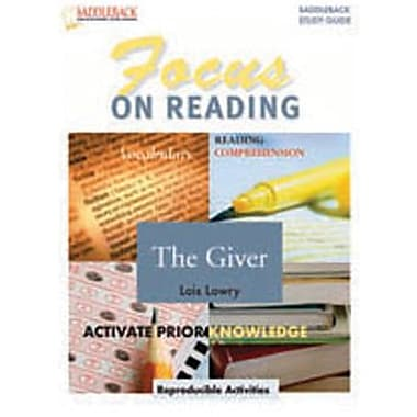 Saddleback Educational Publishing® Giver, The Reading Guide; Grades 6-12
