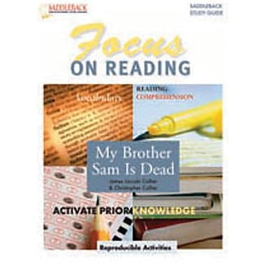 Saddleback Educational Publishing® My Brother Sam is Dead Reading Guide;  Grades 6-12