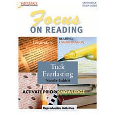 Saddleback Educational Publishing® Tuck Everlasting Reading Guide; Grades 6-12