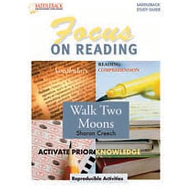 Saddleback Educational Publishing® Walk Two Moons Reading Guide; Grades 6-12