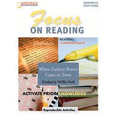 Saddleback Educational Publishing® When Zachary Beaver Goes to Town Reading Guide;  Grades 6-12