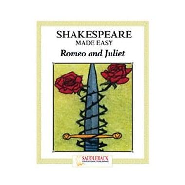 Saddleback Educational Publishing® Shakespeare Made Easy; Romeo and Juliet, Reading Guide
