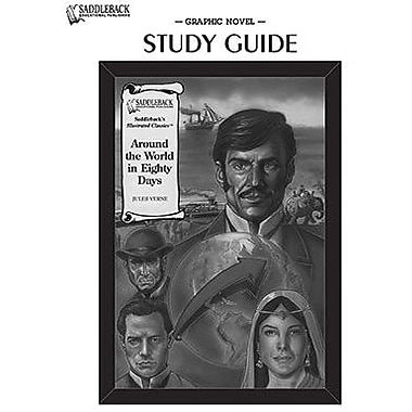 Saddleback Educational Publishing® Around the World in Eighty Days Study Guide CD; Grades 9-12