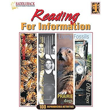 Saddleback Educational Publishing® Reading for Information 1 (Enhanced eBook); Grades 5-12