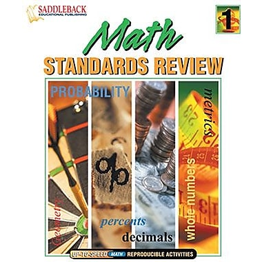 Saddleback Educational Publishing® Math Standards Review 1 (Enhanced eBook); Grades 5-12