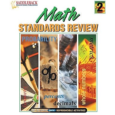 Saddleback Educational Publishing® Math Standards Review 2  (Enhanced eBook); Grades 5-12