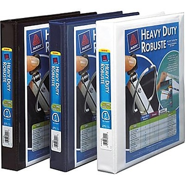 Avery® Heavy-Duty One-Touch D-Ring View Binders, 1