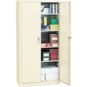 "Alera® Assembled Storage Cabinet with Adjustable Shelves, Putty, 72"" H x 36"" W x 18"" D"