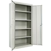 Alera® Assembled Storage Cabinet with Adjustable Shelves, Light Gray, 72 H x 36 W x 18 D