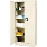 "Alera® Space Saver Storage Cabinet with Fixed Shelves, Putty, 66"" H x 30"" W x 15"" D"