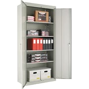 Alera® Assembled Storage Cabinet with Adjustable Shelves, Light Gray, 78 H x 36 W x 18 D