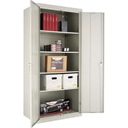 Alera® Assembled Storage Cabinet with Adjustable Shelves, Light Gray, 78 H x 36 W x 24 D