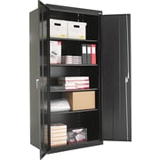 Alera® Assembled Storage Cabinet with Adjustable Shelves, Black, 78 H x 36 W x 24 D