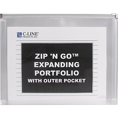 C-Line® Zip 'N Go Resuable Envelope with Outer Pocket, Clear