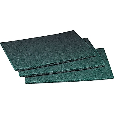 3M Scotch-Brite 08293 General Purpose Scouring Pad, Green, Synthetic Fiber