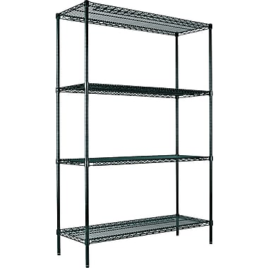 Alera® Wire Shelving Starter Kit, 72in. H x 48in. W x 24in. D