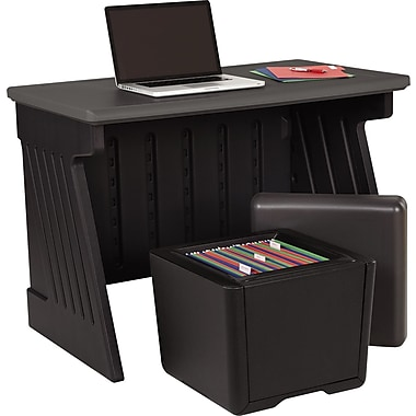 Iceberg Enterprises SnapEase Desk and Otto Seat Storage Combo, 30in. H x 42in. W x 24 1/2in. D