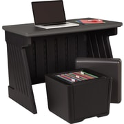 "Iceberg Enterprises SnapEase Desk and Otto Seat Storage Combo, 30"" H x 42"" W x 24 1/2"" D"