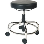 Alera Plus™ Height Adjustable Vinyl Utility Stool, Black