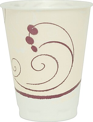 SOLO Trophy Symphony Foam Hot/Cold Cups, 12 oz., 1000/Case SCCX12J8002CT