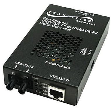 Transition Networks® E-100BTX-FX-05(SC) 100BTX to 100BFX Standalone SC Media Converter