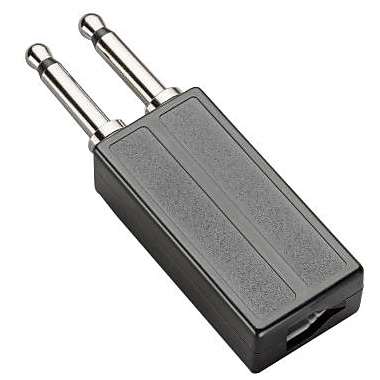 Plantronics® 18709-01 Modular To Dual-Prong Adapter