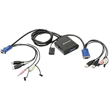 Iogear® GCS72U USB Cable KVM Switch With Audio And Mic, 6'