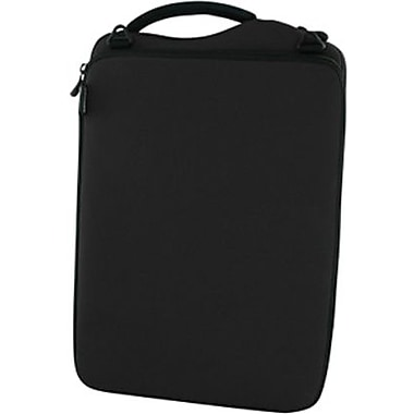 Neoprene notebook case provides laptop storage and is equipped with GRID-IT organizer inside.