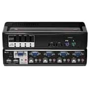 Avocent® SwitchView™ 4SVPUA20-001 Multimedia KVM Desktop Switch, 4 Ports