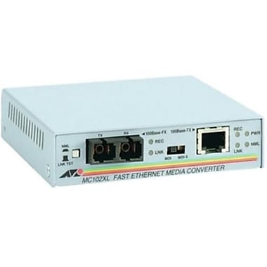 Allied Telesis™ MC102XL-90 100BTX to 100BFX Standalone Media Converter