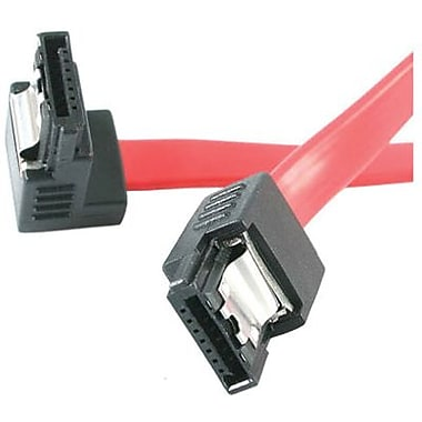STARTECH.COM® Serial ATA to Right Angle Serial ATA Cable, 12in.(L) (LSATA12RA1)