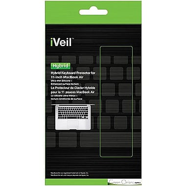 Green Onions Supply RT-KBHB08 iVeil Hybrid Keyboard Skin For Apple MacBook Air