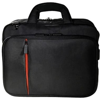 Eco Style ELUX-TL14 Lightweight Luxe Topload Case For 15.6in. Laptops, Black/Orange