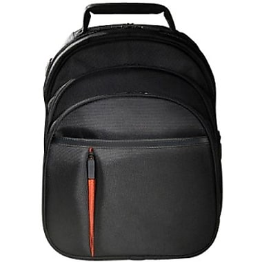 Eco Style ELUX-BP14 Luxe BackPack For 16.1in. Notebook, Orange/ Black