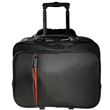 Eco Style ELUX-RC14 Luxe Rolling Case For 15.6in. Laptops, Black/Orange