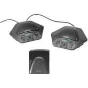 ClearOne 910-158-370-00 MAXAttach IP Single Line Corded Tabletop Conference Phone, Black