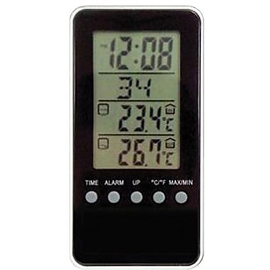 Geneva Clock 3412E Digital LCD Weather Station Alarm Travel Clock