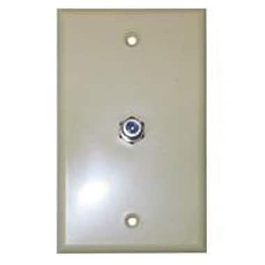 STEREN 200-267 TV Wall Plate, Ivory