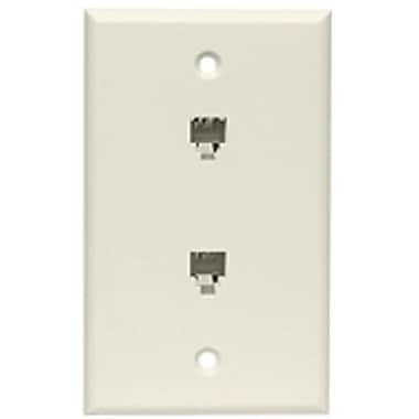 STEREN® 300-214 Telephone Wall Plate, Ivory